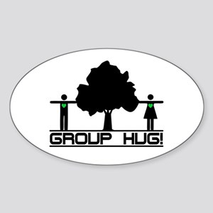 Group Hug!(Tree Hugger) Oval Sticker