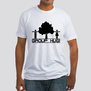 Group Hug!(Tree Hugger) Fitted T-Shirt