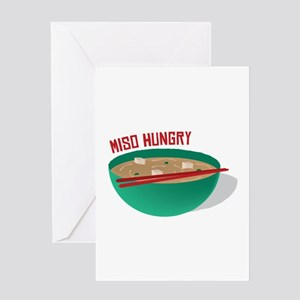 Miso Hungry Greeting Cards