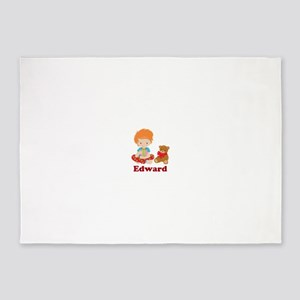 Redhead Boy Personalized Christmas 5'x7'Area Rug
