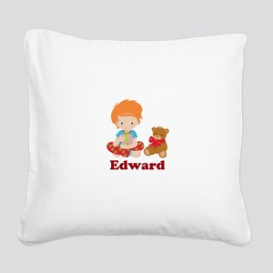 Redhead Boy Personalized Christmas Square Canvas P