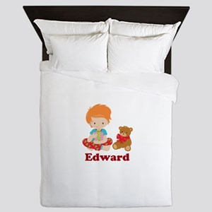 Redhead Boy Personalized Christmas Queen Duvet