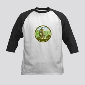 Ride On Lawn Mower Vintage Retro Baseball Jersey