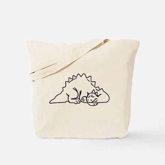 Sleeping Dino Tote Bag
