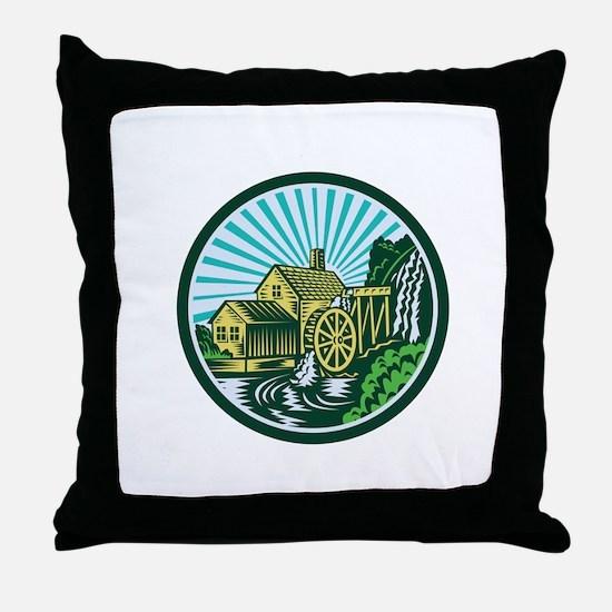 Watermill House Circle Retro Throw Pillow