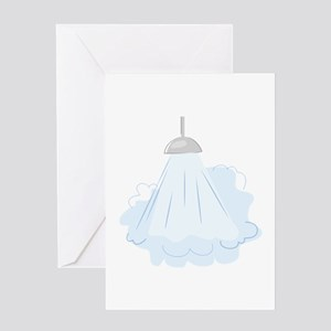 Steamy Shower Greeting Cards