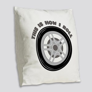 How I Roll Burlap Throw Pillow