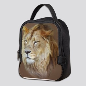 Painting Lion Neoprene Lunch Bag