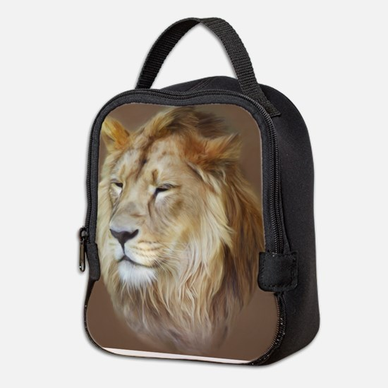 Painting Lion Neoprene Lunch Bag