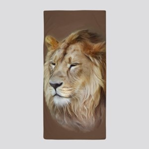 Painting Lion Beach Towel