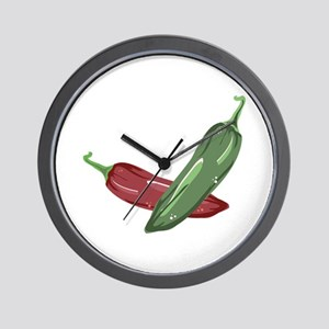 Spicy Peppers Wall Clock