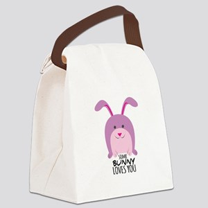 Bunny Loves You Canvas Lunch Bag