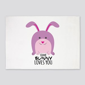Bunny Loves You 5'x7'Area Rug
