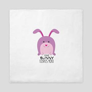 Bunny Loves You Queen Duvet