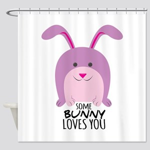 Bunny Loves You Shower Curtain