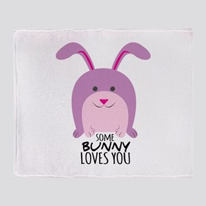 Bunny Loves You Throw Blanket
