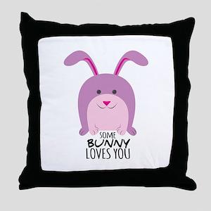 Bunny Loves You Throw Pillow