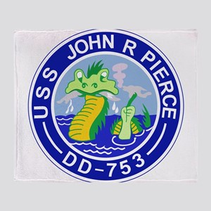 DD-753 C JOHN R PIERCE Destoryer Shi Throw Blanket