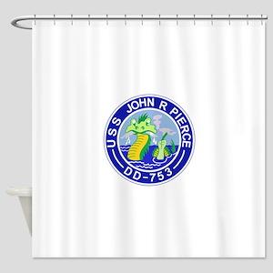DD-753 C JOHN R PIERCE Destoryer Sh Shower Curtain