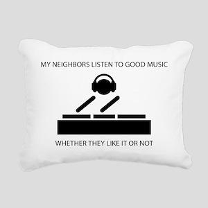 Neighbors - DJ Rectangular Canvas Pillow