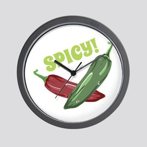 Spicy! Peppers Wall Clock
