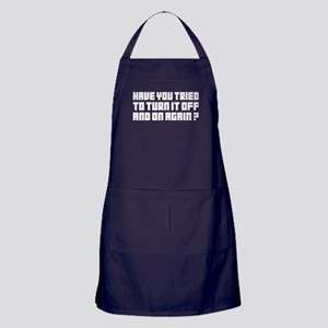 Turn it off and on again! Apron (dark)