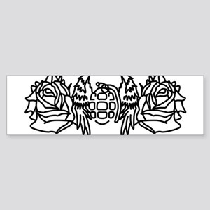 Wings and Roses Bumper Sticker