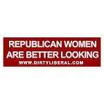 Republican Women Are Better Looking Sticker