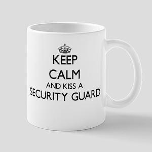 Keep calm and kiss a Security Guard Mugs