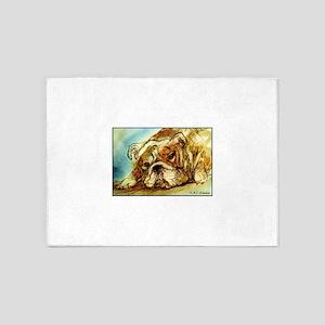 Bulldog! Dog art! 5'x7'Area Rug