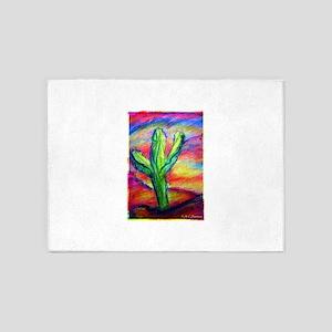 Saguaro Cactus, Southwest art! 5'x7'Area Rug