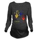 Colombian hands Long Sleeve Maternity T-Shirt