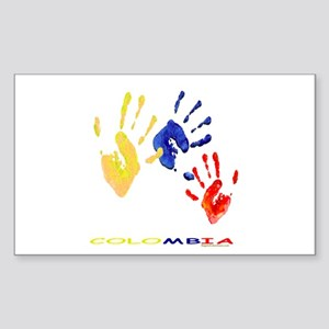 Colombian hands Sticker (Rectangle)