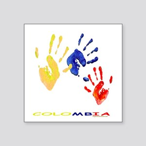 """Colombian hands Square Sticker 3"""" x 3"""""""