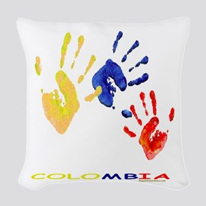 Colombian hands Woven Throw Pillow