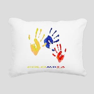 Colombian hands Rectangular Canvas Pillow