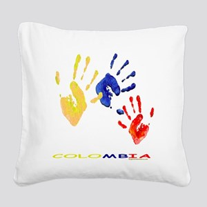 Colombian hands Square Canvas Pillow