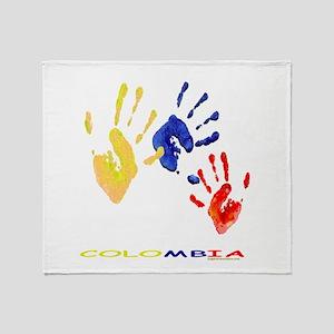 Colombian hands Throw Blanket
