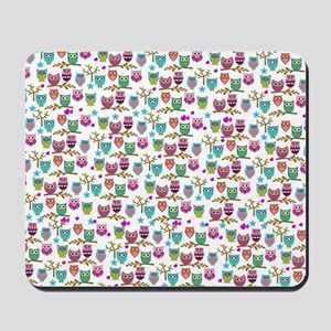 happy owls Mousepad