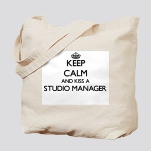 Keep calm and kiss a Studio Manager Tote Bag