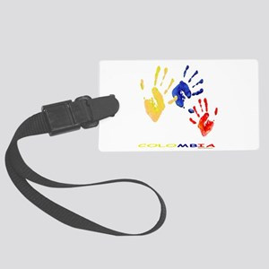 Colombian hands Large Luggage Tag