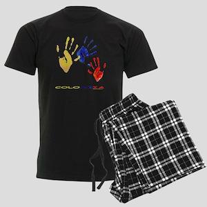 Colombian hands Men's Dark Pajamas
