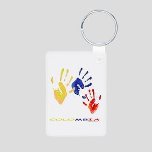 Colombian hands Aluminum Photo Keychain