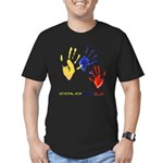 Colombian hands Men's Fitted T-Shirt (dark)