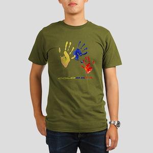 Colombian hands Organic Men's T-Shirt (dark)