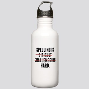 Spelling Is Hard Water Bottle