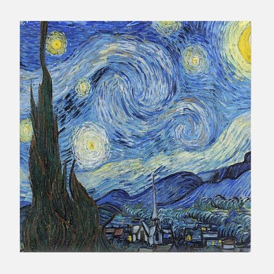 Van Goghs Starry Night Tile Coaster