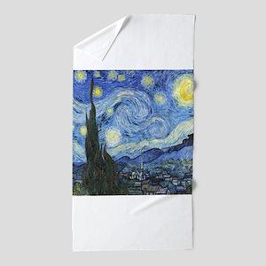 Van Goghs Starry Night Beach Towel