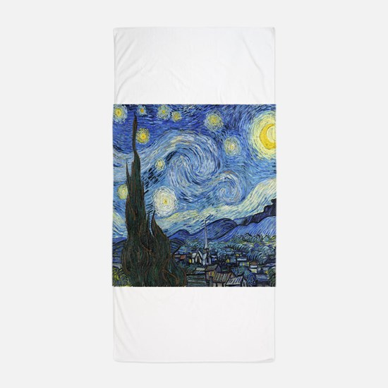 Van Goghs Starry Night Beach Towel