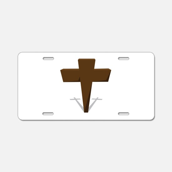 Religious Cross Aluminum License Plate